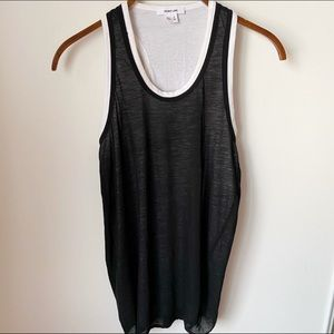 NWOT Helmut Lang Sheer Slub Knit Tank Top